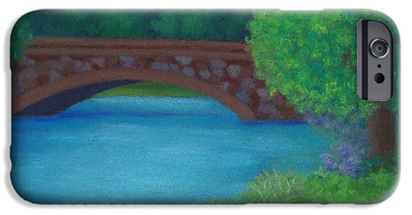 Charles River iPhone Cases - Stone Bridge iPhone Case by Anne Katzeff