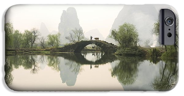 Bridge iPhone Cases - Stone Bridge in Guangxi Province China iPhone Case by King Wu