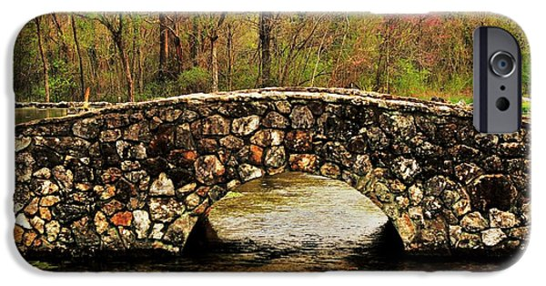 Arkansas iPhone Cases - Stone Bridge in the Ozarks iPhone Case by Benjamin Yeager