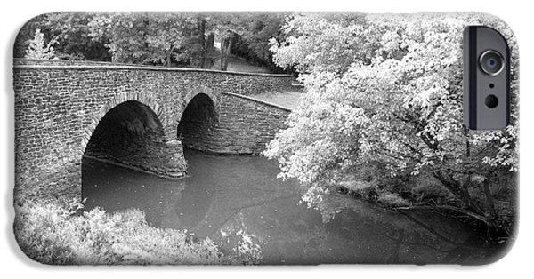 Historic Site iPhone Cases - Stone Bridge Manassas iPhone Case by Christiane Schulze Art And Photography