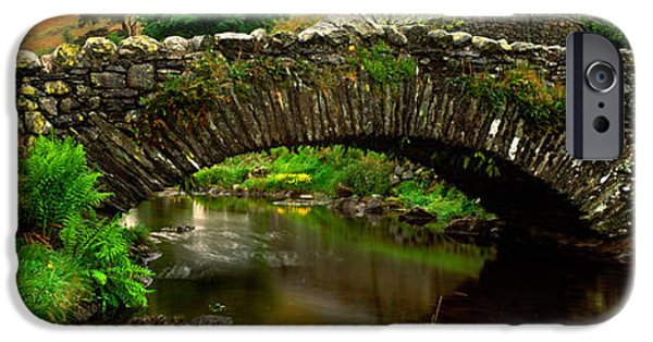 Connection iPhone Cases - Stone Bridge Over A Canal, Watendlath iPhone Case by Panoramic Images