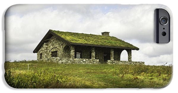 Old Maine Houses iPhone Cases - Stone Building on Beech Hill Rockport Maine iPhone Case by Keith Webber Jr