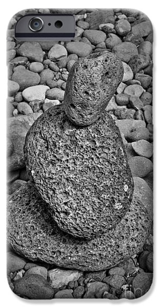 Mounds Digital Art iPhone Cases - Stone Cairn I iPhone Case by David Gordon