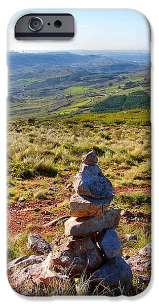 Stone Cairns iPhone Case by Carlos Caetano