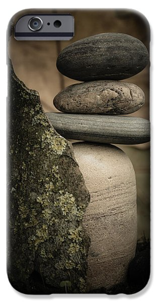 Mystic Setting Photographs iPhone Cases - Stone Cairns III iPhone Case by Marco Oliveira