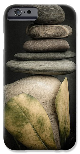 Mystic Setting Photographs iPhone Cases - Stone Cairns V iPhone Case by Marco Oliveira