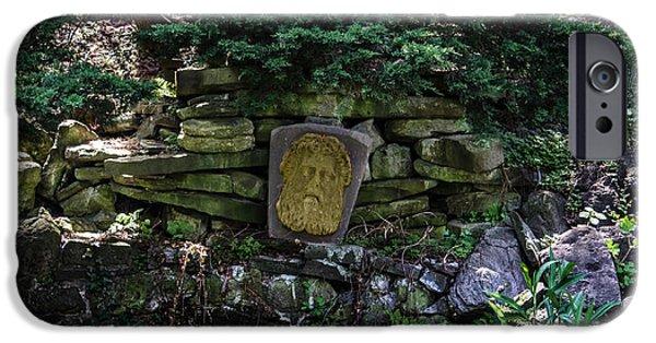 Zeus iPhone Cases - Stone Carved Zeus iPhone Case by Vlad Dudar