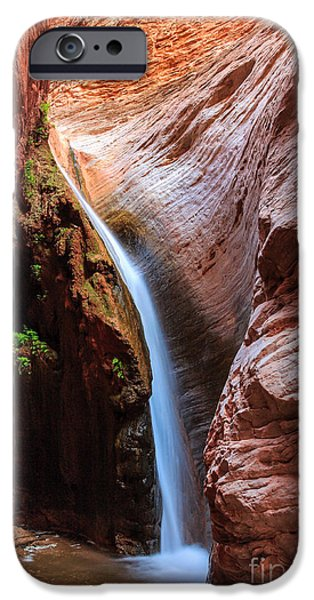 Grand Canyon iPhone Cases - Stone Creek Fall iPhone Case by Inge Johnsson