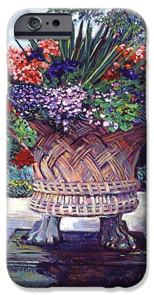 Garden Statuary iPhone Cases - Stone Garden Ornament iPhone Case by David Lloyd Glover