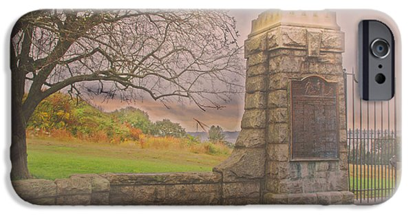 Griswold Ct iPhone Cases - Stone Gate iPhone Case by Tom Gari Gallery-Three-Photography