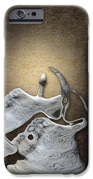 Stone Men 29 - Love Rythm iPhone Case by Variance Collections