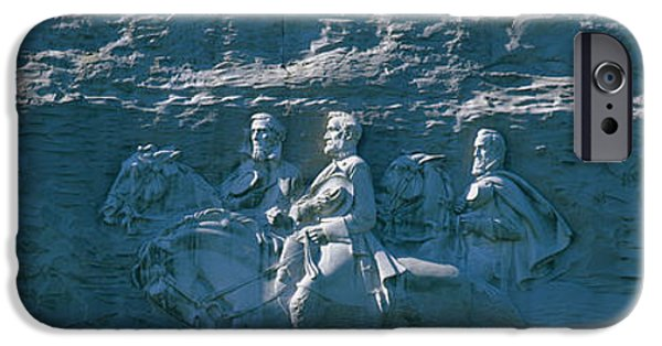 Confederacy iPhone Cases - Stone Mountain Confederate Memorial iPhone Case by Panoramic Images