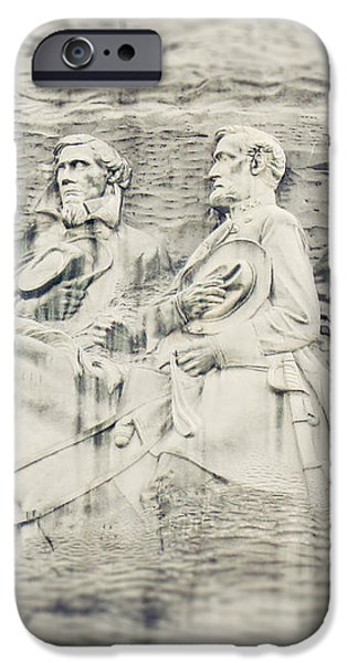 Stone Mountain Georgia Confederate Carving iPhone Case by Lisa Russo