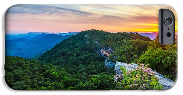 Floral Photographs iPhone Cases - Stone Mountain Ky sunset iPhone Case by Anthony Heflin