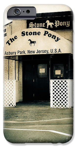 Asbury Park iPhone Cases - Stone Pony iPhone Case by Colleen Kammerer