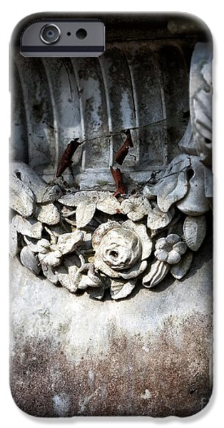 Best Sellers -  - Headstones iPhone Cases - Stone Rose iPhone Case by John Rizzuto