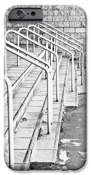 Grate iPhone Cases - Stone steps and railings iPhone Case by Tom Gowanlock