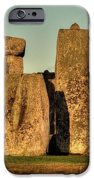 Stonehenge at Sunset iPhone Case by Deborah Smolinske