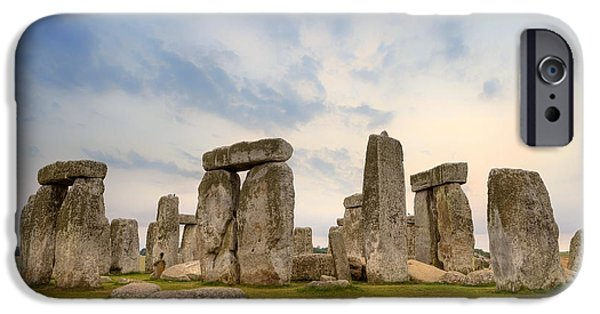 Wiltshire iPhone Cases - Stonehenge iPhone Case by Joana Kruse