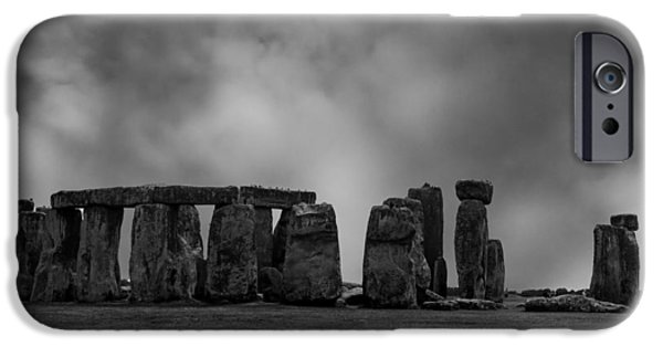 Wiltshire iPhone Cases - Stonehenge iPhone Case by Martin Newman