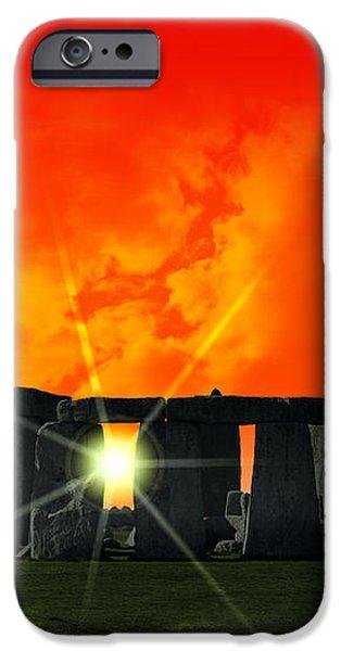 STONEHENGE SOLSTICE iPhone Case by Daniel Hagerman