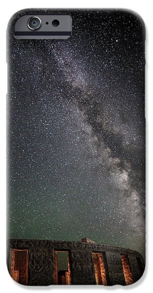 Constellations iPhone Cases - Stonehenge Summers Eve D9006 iPhone Case by Wes and Dotty Weber