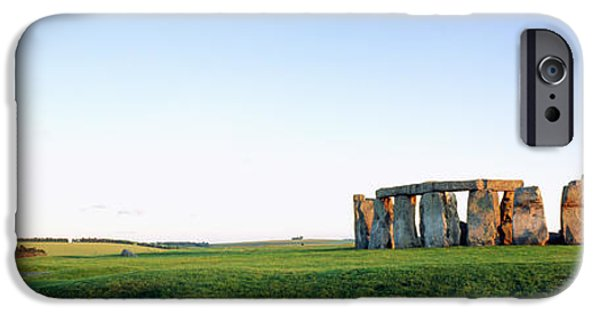 Great Mysteries iPhone Cases - Stonehenge Wiltshire England iPhone Case by Panoramic Images