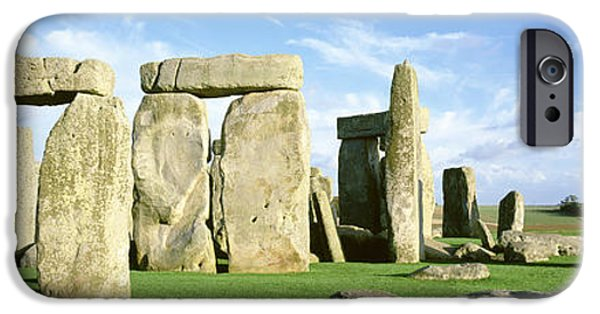 United iPhone Cases - Stonehenge, Wiltshire, England, United iPhone Case by Panoramic Images