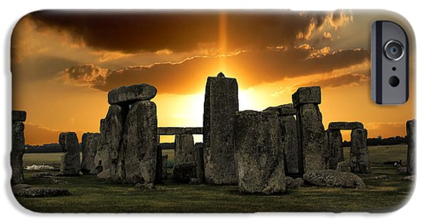 Wiltshire iPhone Cases - Stonehenge Wiltshire UK iPhone Case by Martin Newman