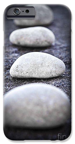 Stillness iPhone Cases - Stones iPhone Case by Elena Elisseeva