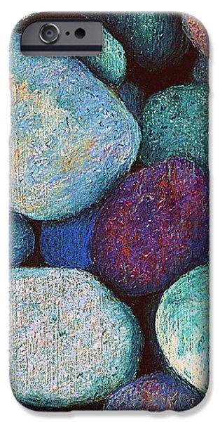 Stones in Pastel iPhone Case by Antonia Citrino