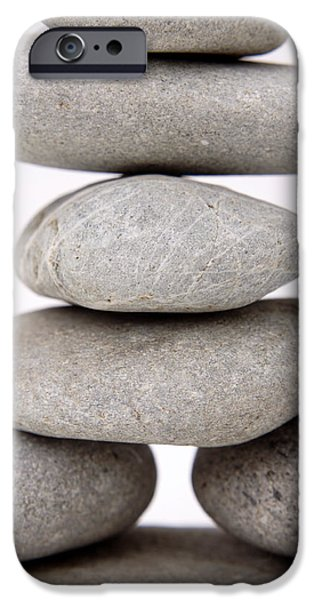 Stability iPhone Cases - Stones iPhone Case by Les Cunliffe