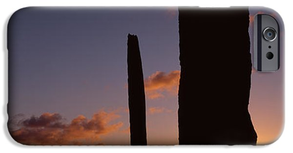 Megalith iPhone Cases - Stones Of Stenness, Orkney Islands iPhone Case by Panoramic Images