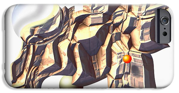 Abstract Digital Reliefs iPhone Cases - StoneSculpt iPhone Case by Ken Shotwell