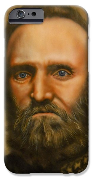 Stonewall Paintings iPhone Cases - Stonewall Jackson iPhone Case by Scott Whitter