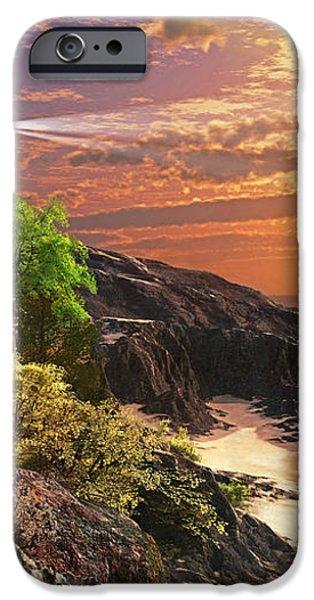 Stoney Cove Lighthouse iPhone Case by Dominic Davison