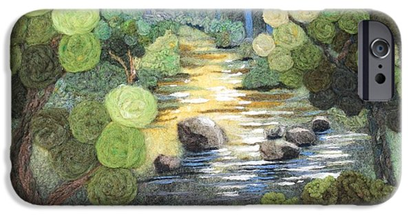 River Tapestries - Textiles iPhone Cases - Stoneycreek Summer iPhone Case by Michelle Bowers