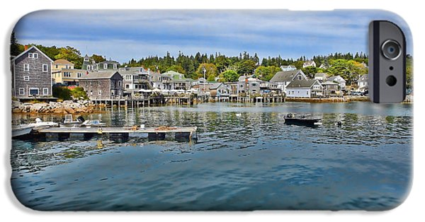 Maine iPhone Cases - Stonington in Maine iPhone Case by Olivier Le Queinec