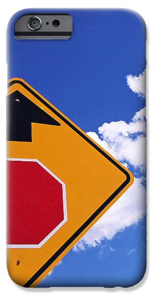 Stop Ahead iPhone Case by Rona Black