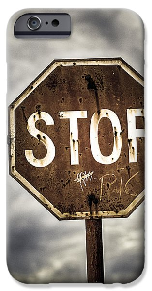 Stop iPhone Case by Caitlyn  Grasso