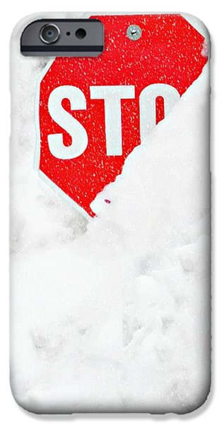 Traffic Sign iPhone Cases - Stop iPhone Case by Diana Angstadt