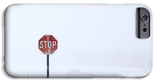 Winter Storm iPhone Cases - Stop For Snowstorm iPhone Case by Susan Stone