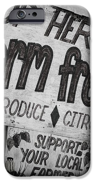 STOP HERE iPhone Case by Joan Carroll