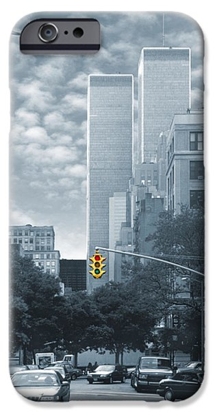 Twin Towers Nyc iPhone Cases - Stop iPhone Case by Mike McGlothlen