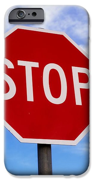 Stop Sign Ireland iPhone Case by The Irish Image Collection