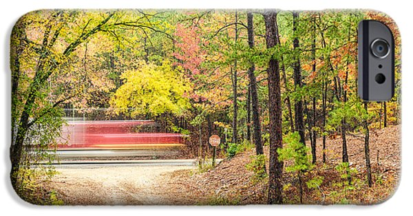 Arkansas iPhone Cases - Stop - Beavers Bend State Park - Highway 259 Broken Bow Oklahoma iPhone Case by Silvio Ligutti
