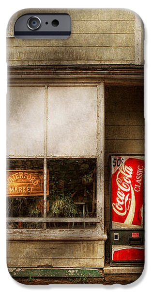 Store Front - Waterford Va - Waterford market  iPhone Case by Mike Savad