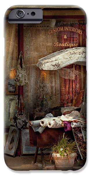 Storefront - Frenchtown NJ - The Boutique iPhone Case by Mike Savad