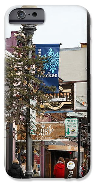 Storefront Shops in Truckee California 5D27489 iPhone Case by Wingsdomain Art and Photography