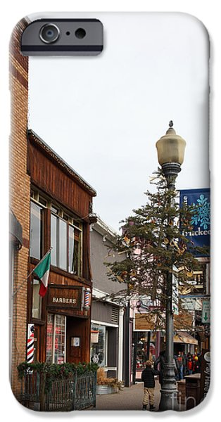 Storefront Shops in Truckee California 5D27490 iPhone Case by Wingsdomain Art and Photography